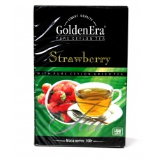 Чай Golden Era Зелёный Strawberry 100g