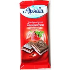 Шоколад Alpinella Клубника 100g