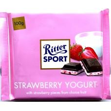 Шоколад Ritter Sport клубничный йогурт 100g
