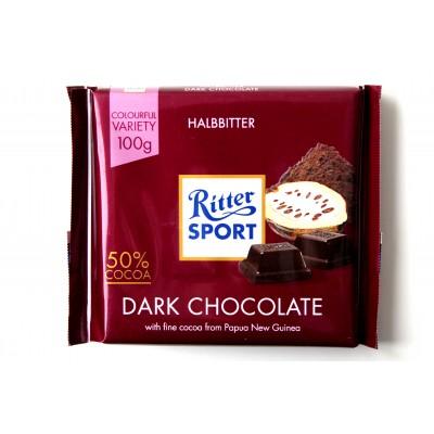 Шоколад Ritter Sport темный (50% какао) 100g