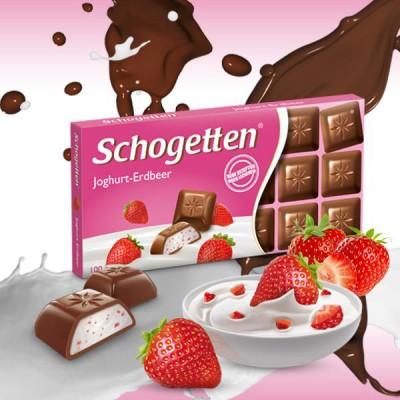 Шоколад Schogetten Yoghurt-Strawberry 100g