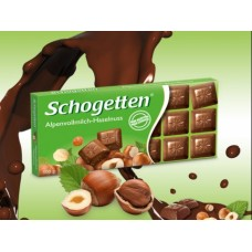 Шоколад Schogetten Alpine milk chocolate with Hazelnuts 100g