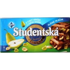 Шоколад Studentska Молочный Груша 180g