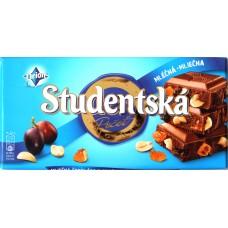 Шоколад Studentska Молочный Изюм/Орех 180g