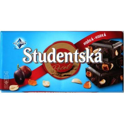 Шоколад Studentska Чёрный Изюм/Орех 180g