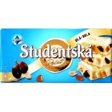 Шоколад Studentska Белый Изюм/Орех 180g