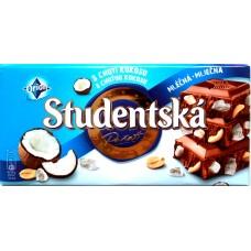 Шоколад Studentska Молочный Кокос 180g