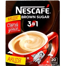Кофе Nescafe 3в1 Brown Sugar