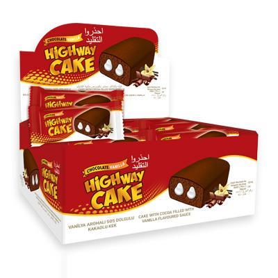 Бисквит HighwayCake с Молочной начинкой Блок (24шт.)