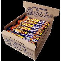 Шоколадный батончик Lion King Size с арахисом Блок (24шт.)