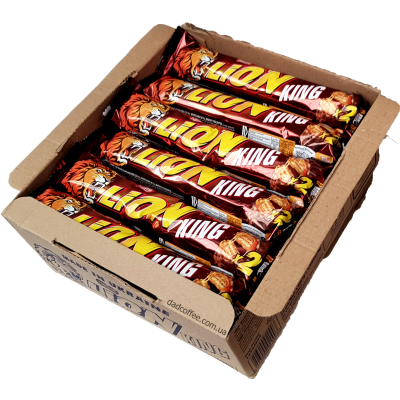 Шоколадный батончик Lion King Size Блок (24шт.)