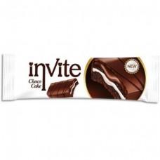 Бисквит Invite шоколадный с молочным кремом