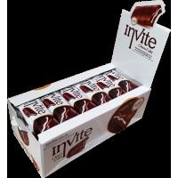 Бисквит Invite шоколадный с молочным кремом Блок (24шт.)