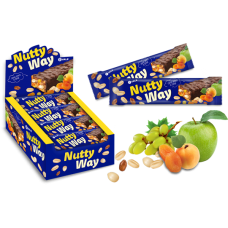 Батончик-мюсли Nutty Way Синий Блок (20шт.)