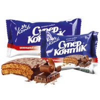 Печенье Супер Контик Шоколад 100 гр