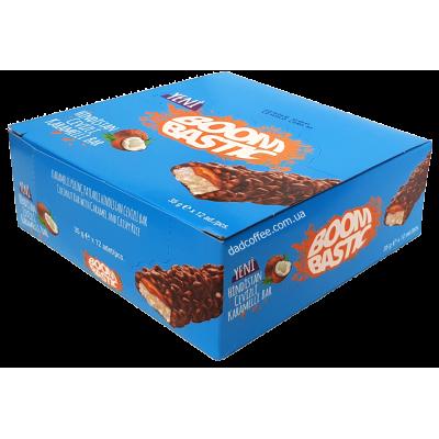 Шоколадный батончик BoomBastic кокосовый Блок (12шт.)
