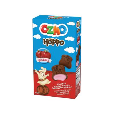 Печенье Ozmo Hoppo 40g Клубника (12уп./блок)